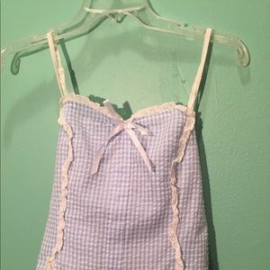 Tops - Blue Gingham Top